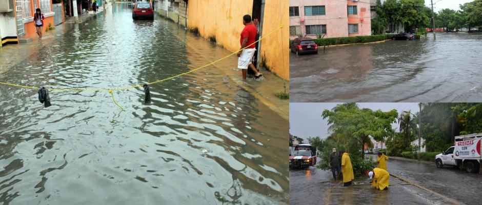 LLUVIAS VUELVEN A EXHIBIR A CANCÚN: Inundaciones en calles y avenidas provocan caos y trastocan actividades durante el fin de semana