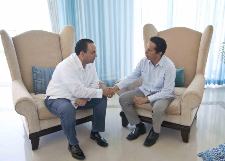 SE REÚNEN CARLOS JOAQUÍN Y BORGE: Gobernador saliente y Gobernador electo formalizan el inicio del proceso de entrega-recepción en Quintana Roo