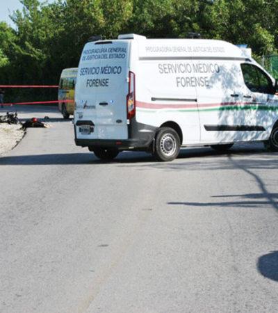 Muere motociclista al chocar contra camioneta del transporte público de la empresa TTE en la carretera de Isla Blanca