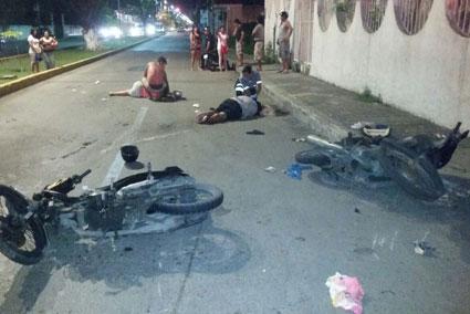 Mueren en accidentes motociclistas en Cancún y Cozumel
