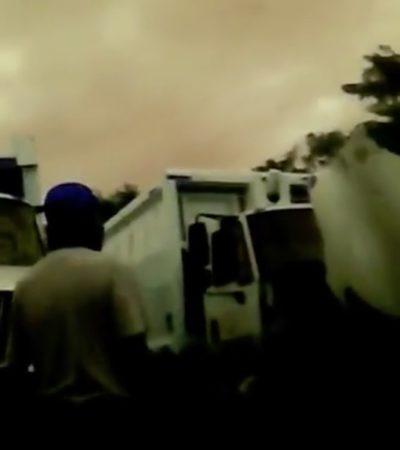 DESMANTELAN SERVICIOS EN PLAYA: Mientras la basura se acumula, video documenta saqueo de piezas de camiones recolectores