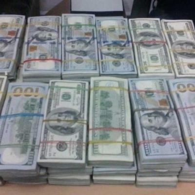 Decomisan más de 70 mil dólares a pasajero en aeropuerto de Mérida