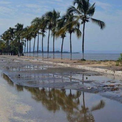 Fenómeno de 'mar de fondo' en playas de Chiapas pone en alerta a autoridades
