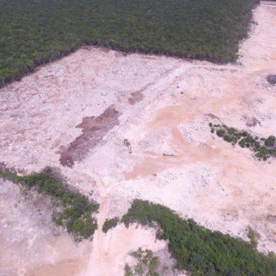 MUESTRAN DEVASTACIÓN DE LA SELVA: Denuncian que constructora ABC continúa con extracción de material pétreo pese a clausura de predio en Playa