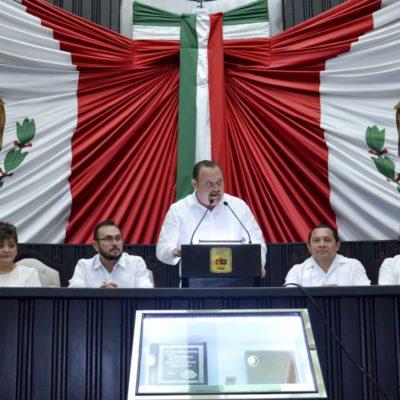 """""""¿PORQUÉ SE ESCONDE EL GOBERNADOR?"""": Recibe el Congreso informe de Borge en una sesión de reproches entre diputados"""