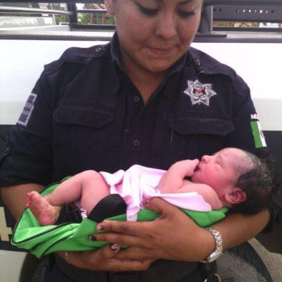 Rescatan a una bebé abandonada en una mochila en Ciudad Natura de Cancún