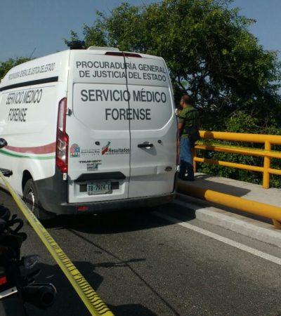 SUICIDIO EN ZONA HOTELERA: Hallan colgado a un hombre a la altura de un puente del boulevard Kukulkán de Cancún