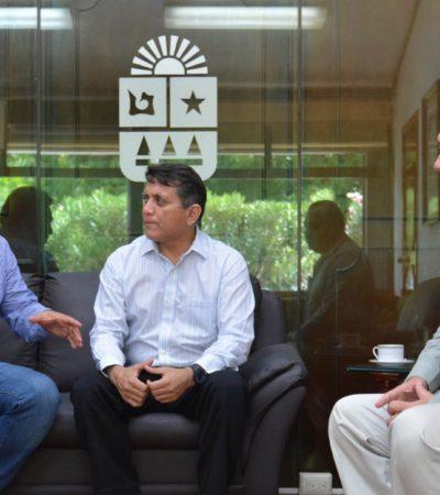 Se reúne Miguel Ramón con líderes del Congreso para afinar la sesión de toma de protesta de Carlos Joaquín como próximo Gobernador de QR