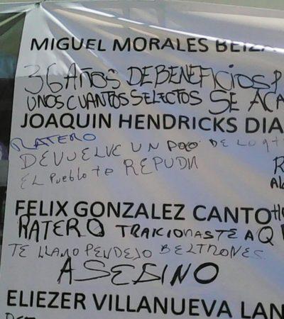 SE AFIANZA REPUDIO CIUDADANO CONTRA BORGISTAS: Recorren Chetumal el 'Muro de la Vergüenza'