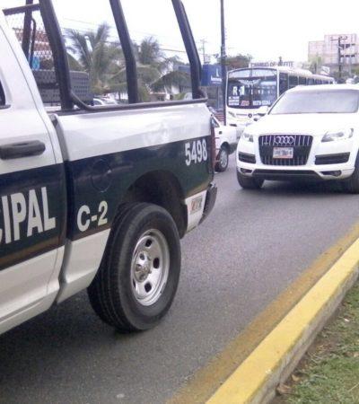 SECUESTRO EN CÉNTRICA AVENIDA DE CANCÚN: Hombres armados disparan y se llevan a una mujer que viajaba en lujosa camioneta por la Bonampak