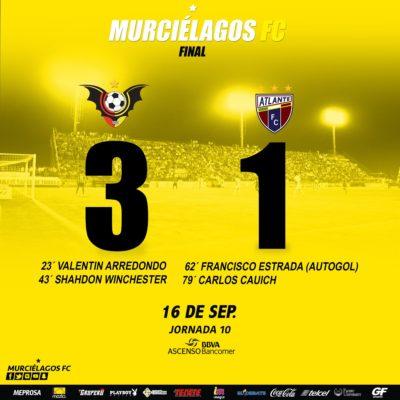 Sorprende Murciélagos FC al Atlante y lo derrota 3-1 en la Liga de Ascenso MX