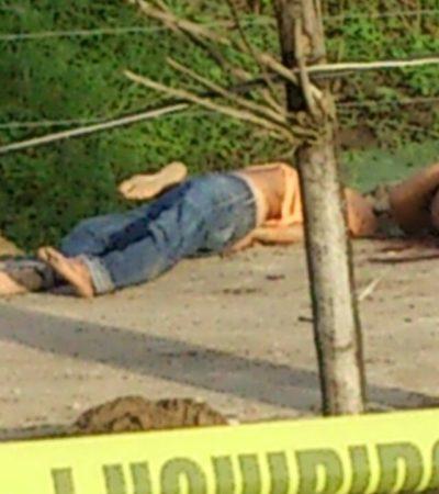 VIOLENCIA EN TABASCO: Con el tiro de gracia, hallan a 3 ejecutados en ranchería del municipio de Centro