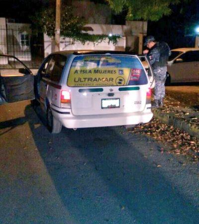 SOSPECHAN CRIMEN DEL NARCO: Dos taxistas asesinados la misma noche laboran en área de antros de la Zona Hotelera