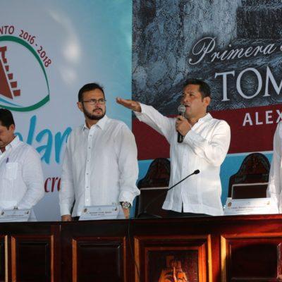 YA TIENE BACALAR NUEVO ALCALDE: Alexander Zetina rinde protesta bajo el manto del Panal