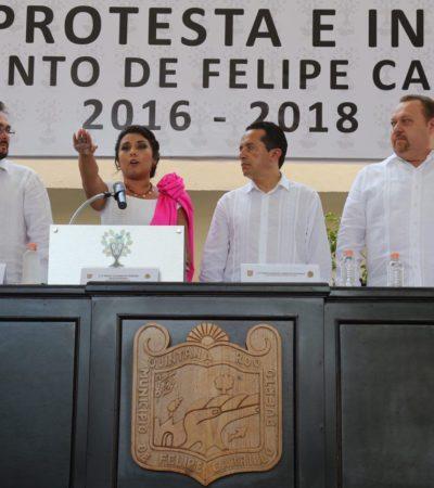 LLEGA PRIMERA MUJER A LA ALCALDÍA DE FCP: Asume el mando la priista Paoly Perera, una de las cinco alcaldesas electas de QR