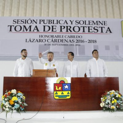 RECIBE PANAL SU SEGUNDA ALCALDÍA: Rinde protesta Emilio Jiménez Ancona como presidente de Lázaro Cárdenas