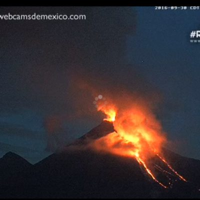 SE PONE 'INQUIETO' EL VOLCÁN DE COLIMA: Desalojan comunidades ante incremento de actividad volcánica