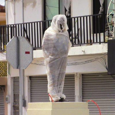 TRES MILLONES PARA EXHIBIR: Instalan polémicas y costosas estatuas en la Héroes de Chetumal