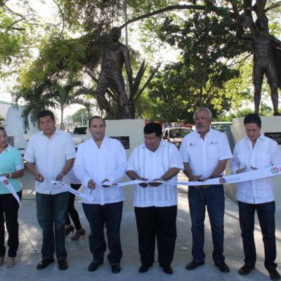 'BETO' SE PONE 'REBELDE': A unos días de dejar el cargo, Gobernador reinaugura la Avenida Héroes con estatuas de generales mayas de la Guerra de Castas