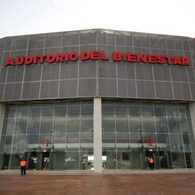 INAUGURA BORGE POLÉMICO 'AUDITORIO DEL BIENESTAR': A 11 días de terminar, dice Gobernador que la obra es segura