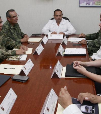 En la tarde de su último Informe, reaparece Borge en Cancún en reunión con cuerpos de seguridad