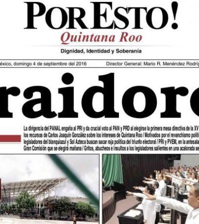 'GOLPEADOS' Y 'NOQUEADOS': Medios impresos en QR destacan revés al PRI-PVEM en el Congreso; sólo Por Esto! lo califica de 'traición'