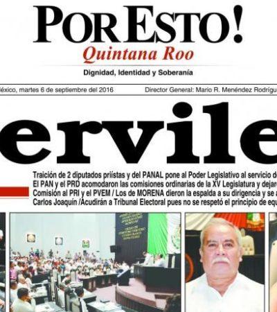 'MIJAGAS' AL PRI EN EL CONGRESO… ¿POR DIPUTADOS SERVILES?: Así reportaron periódicos de QR la histórica toma de control de la 'nueva mayoría'