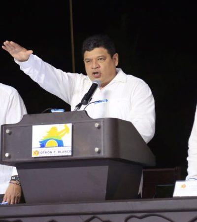 INICIA EL RELEVO EN MUNICIPIOS DE QR: Luis Torres, primer Alcalde en tomar posesión de la comuna de OPB; presentan a nuevos jefes policiacos