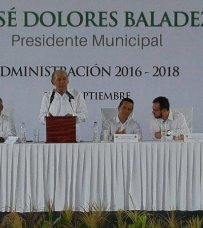 ASUME ALCALDE EN LA ZONA MAYA: El priista José Baladez Chi rinde protesta en José María Morelos