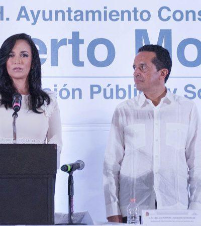 PRIMERA ALCALDESA PARA NUEVO MUNICIPIO: Llega Laura Fernández a Puerto Morelos y pide que CAPA entre en lugar de Aguakán
