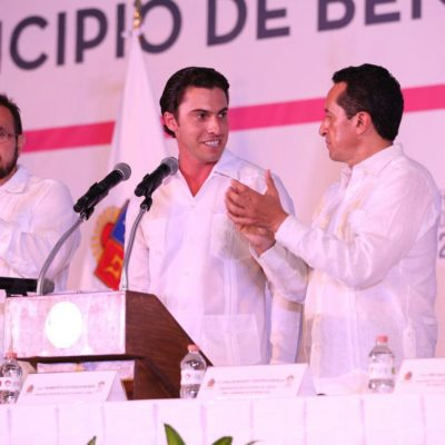 SERÁ CANCÚN REFUGIO DE BORGISTAS Y FELIXISTAS: El 'verde' Remberto Estrada rinde protesta como Alcalde de BJ