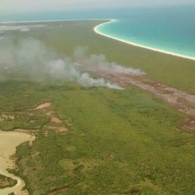 AVANZA RÁPIDO INCENDIO EN HOLBOX: Consume siniestro 11 hectáreas dentro de reserva de Yum Balam, pero para mañana ya serán 30