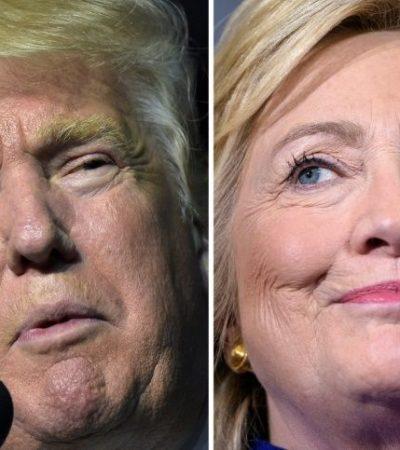 PRIMER DEBATE EN EU: Clinton y Trump se verán la cara mientras siguen codo a codo en los sondeos rumbo a la elección de noviembre