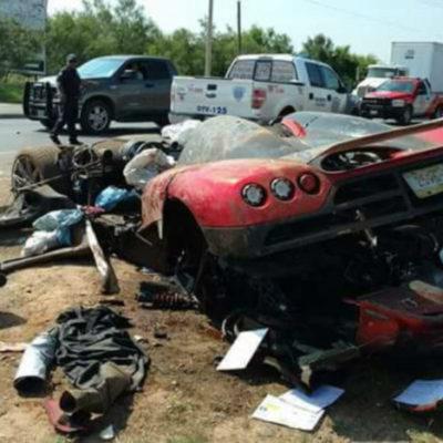 LO ACABABAN DE COMPRAR Y QUEDÓ DESECHO: Presuntos empleados de la Presidencia de la República destruyen auto deportivo de lujo de 1.4 mdd