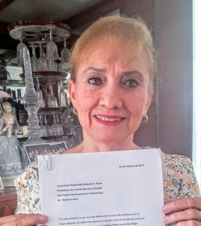 IRÍA MARTHA SILVA AL SQCS: Suena ex diputada ex priista para dirigir el aparato de comunicación social de Quintana Roo