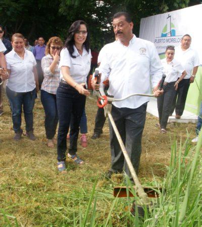Anuncia Laura Fernández acciones permanentes para mejorar la imagen urbana de Puerto Morelos