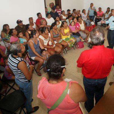Ofrece comuna apoyar regularización de predios de las colonias La Fe y Tierra Nueva en Puerto Morelos