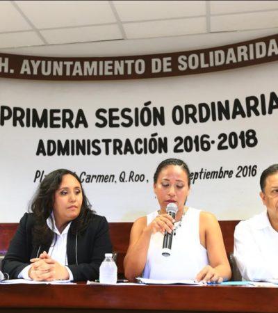 Aprueba Cabildo comisión especial para revisar concesiones y primeros nombramientos en Solidaridad