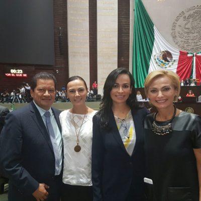 Se reúne Laura Fernández con diputados federales para gestionar recursos para Puerto Morelos
