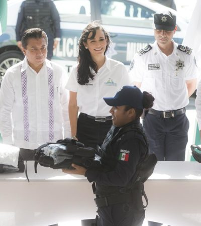 DESTINAN 12 MDP A SEGURIDAD: Por primera vez, entrega Laura Fernández patrullas, uniformes y equipamiento para policías de Morelos