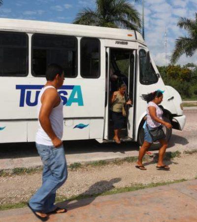 ANTICIPAN GOLPE A TUCSA : Dice Alcaldesa que se analizará terminar con el monopolio en el transporte urbano en Playa del Carmen