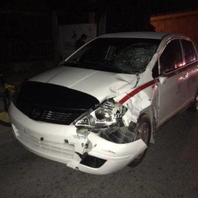 Muere chiapaneco atropellado por un taxi por no utilizar un puente peatonal en Akumal