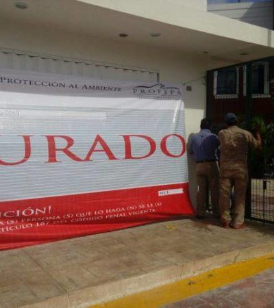 Clausura Profepa taquilla de Barcos Caribe en Isla Mujeres