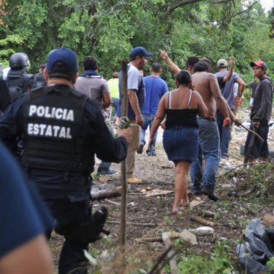FRUSTRAN INVASIÓN EN PUERTO MORELOS: Desalojan a unas 100 familias que ocuparon en domingo predio del IPAE; detienen a 8 'cabecillas'
