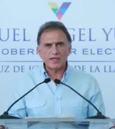 """""""Fueron implacables contra el pueblo veracruzano; seremos implacables contra ellos"""", dice Yunes Linares"""