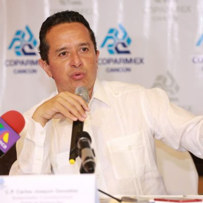 """""""QR exige austeridad y disciplina financiera"""", dice Carlos Joaquín previo a la discusión de paquete de reformas en el Congreso"""