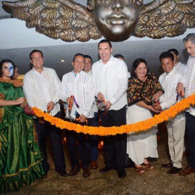 JUNTA LA 'CATRINA' A CARLOS JOAQUÍN Y MORENO VALLE: Inauguran gobernadores de QR y Puebla Festival de Vida y Muerte de Xcaret