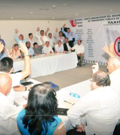 NUEVA PROTESTA NACIONAL CONTRA UBER: Bloque de sindicatos de taxistas pactan en Cancún manifestaciones en 24 estados el 12 de octubre