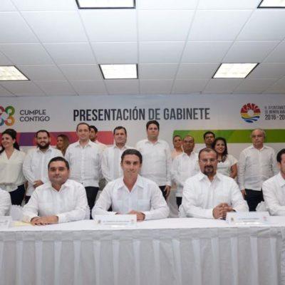 Presenta Remberto Estrada a su gabinete para Cancún