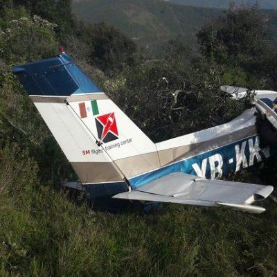 Se desploma avioneta con saldo de un muerto y un herido en Acultzingo, Veracruz